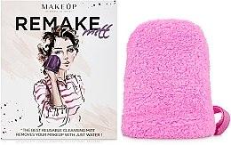 """Парфюмерия и Козметика Ръкавица за премахване на грим, розова """"ReMake"""" - MakeUp"""