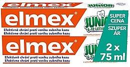 Парфюмерия и Козметика Комплект детска паста за зъби - Elmex Junior Toothpaste (2xtoothpaste/75ml)