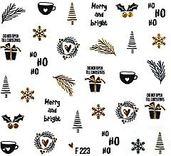 "Парфюмерия и Козметика Водни стикери за нокти ""Коледа 2020"" - Peggy Sage Christmas 2020"