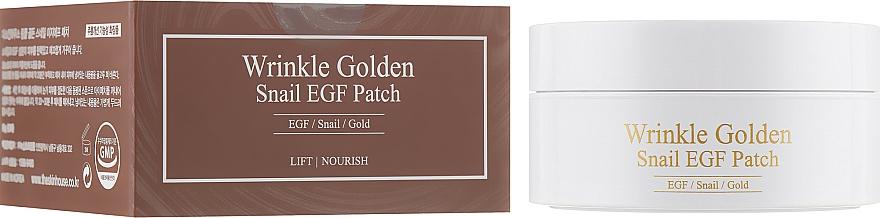 Хидрогел пачове за очи със злато и секрет от охлюв - The Skin House Wrinkle Golden Snail EGF Patch