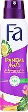 "Парфюмерия и Козметика Спрей дезодорант ""Бразилски ритми"" - Fa Ipanema Nights Deo Spray"