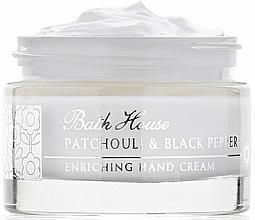 Парфюмерия и Козметика Bath House Patchouli & Black Pepper - Крем за ръце