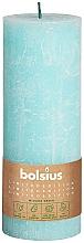 Парфюмерия и Козметика Цилиндрична свещ, синя, 190х68 мм - Bolsius