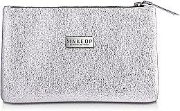 """Парфюми, Парфюмерия, козметика Козметична сребриста чанта """"Silver Glow"""" - MakeUp"""