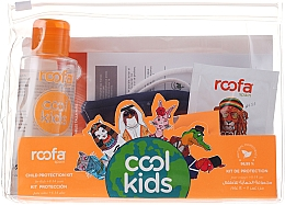 Парфюмерия и Козметика Комплект за деца - Roofa Cool Kids (антиб. гел/100ml + гел-шамп./3g + санитар. маска/1бр.)