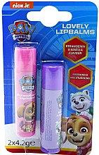 Парфюмерия и Козметика Комплект балсам за устни - Nickelodeon Paw Patrol (lipbalm/2x4.2g)