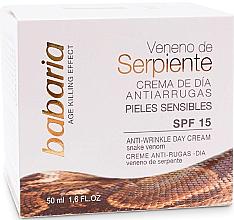 Парфюми, Парфюмерия, козметика Дневен крем за лице против бръчки със змийска отрова - Babaria Anti-Wrinkle Snake Venom Day Facial Cream SPF15