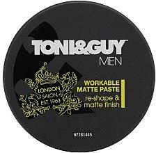 Парфюми, Парфюмерия, козметика Моделираща паста за коса с матиращ ефект - Toni & Guy Men Workable Matte Paste