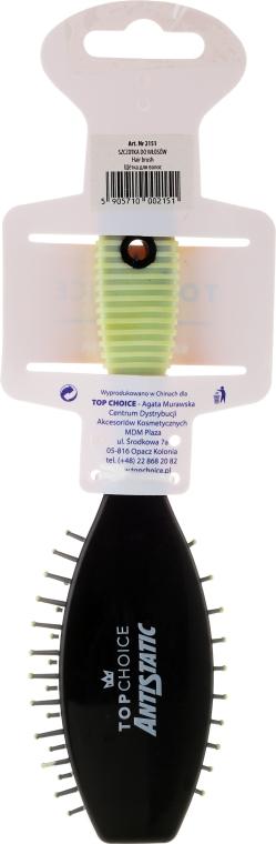 Четка за коса, 2151, черно-зелена - Top Choice — снимка N2