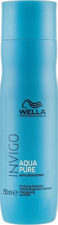 Почистващ шампоан за коса - Wella Professionals Invigo Aqua Pure Shampoo