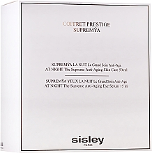 Парфюмерия и Козметика Комплект за лице - Sisley Supremya Prestige Gift Set (околоочен крем-серум/15ml+ крем-серум/50ml)