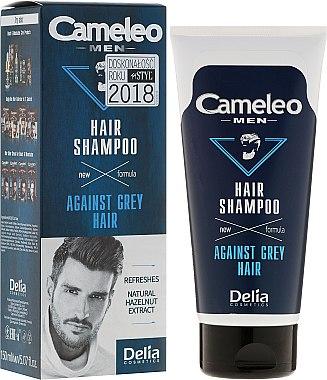 Шампоан за мъже против побеляване на косата - Delia Cameleo Men Against Grey Hair Shampoo — снимка N1