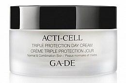 Парфюми, Парфюмерия, козметика Дневен крем с тройна защита за нормална и комбинирана кожа - Ga-De Acti-Cell Triple Protection Day Cream Normal & Combination Skin