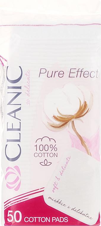 Козметични памучни тампони, 50 бр. - Cleanic Face Care Cotton Pads