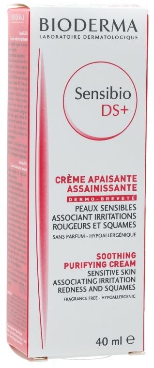 Изглаждащ омекотяващ крем против раздразнения - Bioderma Sensibio DS+ Soothing Purifying Cleansing Cream