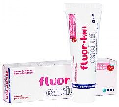 Парфюми, Парфюмерия, козметика Детска паста за зъби - Kin Fluor Calcium Tootpaste