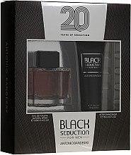 Парфюми, Парфюмерия, козметика Antonio Banderas Seduction in Black - Комплект (тоал. вода/100ml + афтър. балсам/75ml)