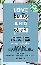 Парфюмерия и Козметика Сапун с кокосова вода и мимоза - Love Beauty&Planet Coconut Water & Mimosa Flower Bar Soap