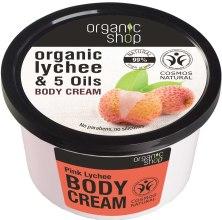 """Парфюми, Парфюмерия, козметика Крем за тяло """"Пинк Личи"""" - Organic Shop Body Cream Organic Lichee & Oils"""