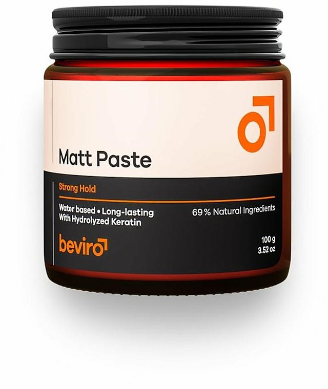 Паста за коса - Beviro Matt Paste Strong Hold — снимка N1