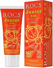 """Парфюмерия и Козметика Детска паста за зъби """"Плодова дъга"""" - R.O.C.S. Junior"""