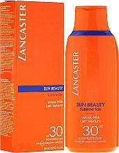"""Парфюмерия и Козметика Нежно мляко за тяло """"Върховен тен"""" - Lancaster Sun Beauty Velvet Milk Sublime Tan SPF 30"""