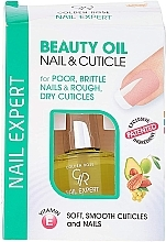 Масло за нокти и кожички - Golden Rose Nail Expert Beauty Oil Nail & Cuticle — снимка N4