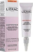Парфюмерия и Козметика Енергизиращ околоочен гел-крем против признаци на умора - Lierac Dioptifatigue Fatigue Correction Re-Energizing Gel-Cream