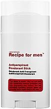 Парфюмерия и Козметика Стик дезодорант антиперспирант за мъже - Recipe For Men Antiperspirant Deodorant Stick