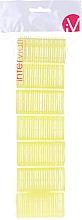 Парфюмерия и Козметика Велкро ролки за коса, 499597, жълти - Inter-Vion