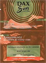Парфюми, Парфюмерия, козметика Автобронзант с пилинг ефект за лице и тяло - Dax Sun Tanning Cream + Soothing Peeling