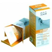 Парфюмерия и Козметика Слънцезащитен крем с морски зърнастец и маслина SPF 25+ - Eco Cosmetics Suntan Cream SPF 25