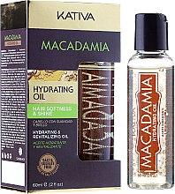 Парфюмерия и Козметика Овлажняващо възстановяващо масло за нормална и увредена коса - Kativa Macadamia Hydrating Oil