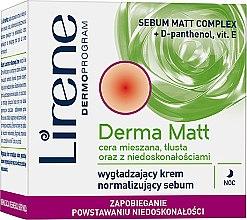 Парфюми, Парфюмерия, козметика Нощен крем за лице - Lirene Dermoprogram Derma Matt Night Cream
