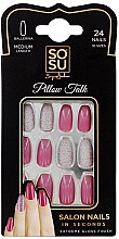 Парфюми, Парфюмерия, козметика Комплект изкуствени нокти - Sosu by SJ False Nails Medium Balerina Pillow Talk