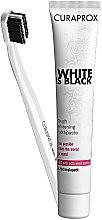 Парфюми, Парфюмерия, козметика Комплект Black is White (бял) - Curaprox (toothpast/90ml + toothbrush/1шт)