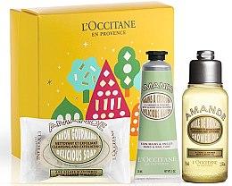 Парфюми, Парфюмерия, козметика Комплект - L'Occitane Almond (душ масло за тяло/75ml + сапун/50g + крем за ръце/30ml)