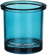 Парфюмерия и Козметика Чаша за свещ - Yankee Candle POP Blue Tealight Votive Holder