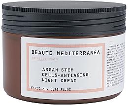 Парфюми, Парфюмерия, козметика Подмладяващ нощен крем за лице - Beaute Mediterranea Argan Stem Cells Antiaging Night Cream