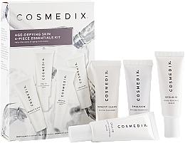 Парфюмерия и Козметика Комплект за лице - Cosmedix Age Defying Skin 4-Piece Essentials Kit (почист. гел/15ml + серум/15ml + серум/15ml + крем/15ml)