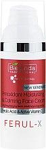Парфюмерия и Козметика Антиоксидантен хидратиращ и успокояващ крем за лице - Bielenda Professional Ferul-X Antioxidant Moisturizing & Calming Face Cream