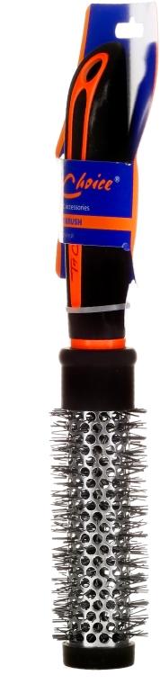 """Четка за коса """"Neon"""" кръгла 27мм, 63701, черна с оранжево - Top Choice — снимка N2"""