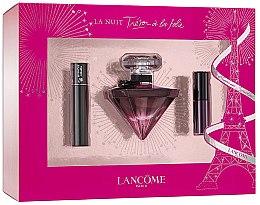 Парфюми, Парфюмерия, козметика Lancome La Nuit Tresor A La Folie - Комплект (парф. вода/30ml + спирала/мини/2ml + червило/3ml)