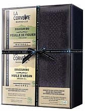 Парфюмерия и Козметика Комплект - La Corvette Douceur Bio Gift Box (soap/2x100g + towel/1pcs)