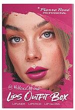 Парфюми, Парфюмерия, козметика Комплект за устни - Pierre Rene Lips Outfit Box No. 01 @MsHeraOfficial (червило/3g + молив/0.4g + гланц/6ml)