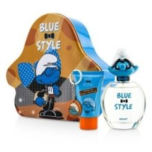 Парфюмерия и Козметика Marmol & Son The Smurfs Brainy - Комплект (тоал. вода/100ml + душ гел/75ml + ключодържател)