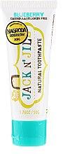 Парфюми, Парфюмерия, козметика Натурална паста за зъби с боровинков вкус - Jack N' Jill Natural Toothpaste Blueberry