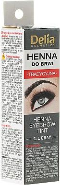 Крем-боя за вежди, графит - Delia Brow Dye Henna Traditional