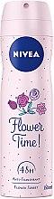Парфюми, Парфюмерия, козметика Дезодорант - Nivea Flower Time Deodorant