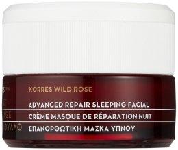 Парфюми, Парфюмерия, козметика Крем-маска за интензивно нощно възстановяване - Korres Wild Rose Advanced Repair Sleeping Facial